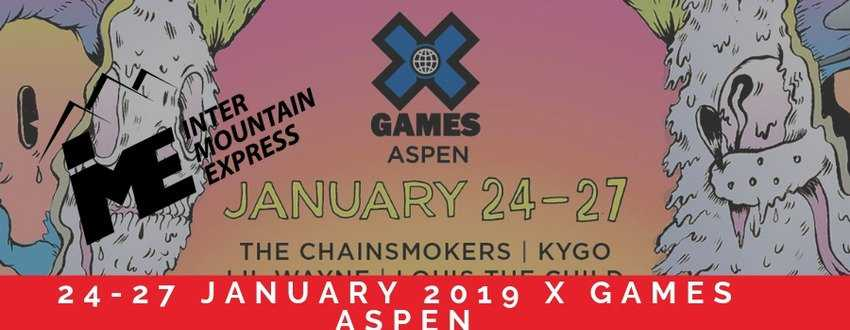 24-27 JANUARY, 2019 X GAMES ASPEN Car Service Denver to Aspen