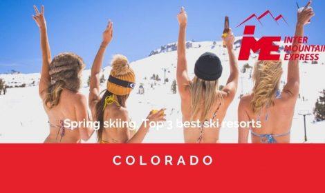Spring skiing. Top 3 best ski resorts
