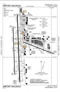 Centennia Airport Map